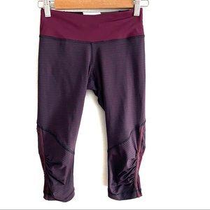Lululemon micro striped crop leggings